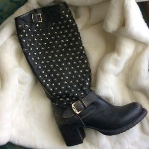 Shoes - Rare Fry /Vera studded  tall boots